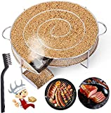 LIHAO Generador de Humo Frío Cocina Ahumador de Acero Inoxidable para Barbacoa Carne Pescado (con Forma Redonda)